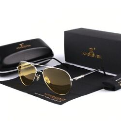 New Men High End Night Vision Polarized UV400 Driving Glasses Aviator Sunglasses $24.99