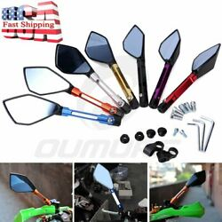 8mm/10mm Motorcycle Rearview Side Mirrors For Street Bike Chopper Cruiser