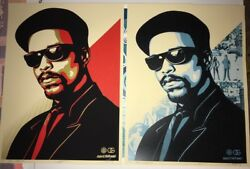 Obey Giant Shepard Fairey Ice T Og Print Banksy Poster Mint Ed. 300 Red And Blue