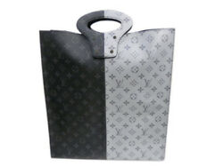 LOUIS VUITTON Monogram Split Eclipse Silver Fragment Tote Hand Bag Never Used