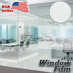 Net Style Glass Film Static Cling Office Window Patterned Decoration Privacy #38