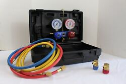 R134A GAUGE SET Car Automotive AC Air Conditioning Test Filling System WITH CASE