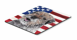 Border Terrier Mix USA American Flag Mouse Pad Hot Pad or Trivet