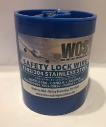 Aircraft Safety Lock Wire Ms20995c-21 1 Lb. Roll .021andrdquo Diameter T302/304 Ss New