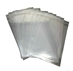 200 Pcs 9x12 Clear Resealable Poly Cello T-shirt Magazing Storage Bags
