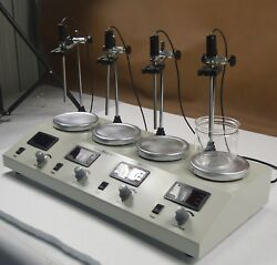 Magnetic Stirrer with Heat PlateLab Equipment 4Head Digital Display Dual Control