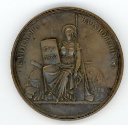 Russian Imperial Russia Peter I Table Bronze Medal 1838 Petersburg 12 Colleges