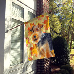 Carolines Treasures  BB9961CHF Welsh Terrier Fall Flag Canvas House Size