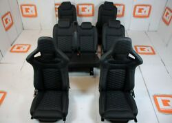 LRI black leather HEX stitch 7 seat interior fit Land Rover Defender 110 TDCI
