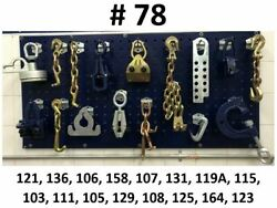 Auto Body Frame Machine 16 Piece Tools And Clamp Chain Set Special Pricing