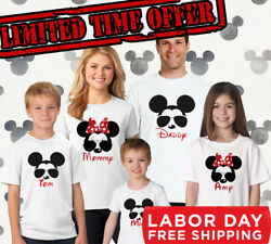 Disney Family Matching Shirts Red Glitter Minnie Personalized Option Available