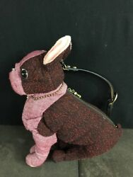 Fuzzy Nation Dog Purse Lady in Red Boston shoulder bag Boston Terrier
