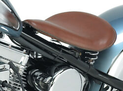 Ultima 13 Brown Leather Spring Mounted Solo Seat Metal Pan Smooth Design