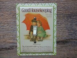 Vintage Good Housekeeping Magazine Tin Light Switch Plate Cover Bedroom Decor