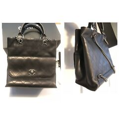 Authentic 2016 Chanel Backpack convertible Crossbody Tote Shoulder Bag $4100