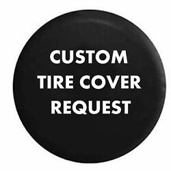 Spare Tire Cover Custom Personalized for your Jeep Camperfor SUV or RV $89.99
