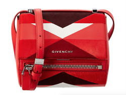 NWT Givenchy Mini Pandora Box Patchwork Red Black Shoulder Crossbody Satchel Bag