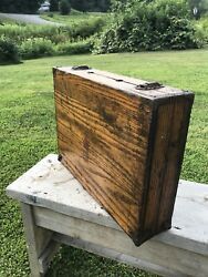 Antique Ec Simmons Keen Kutter Wooden Tool Box Chest Dove Tailed 17x13x4