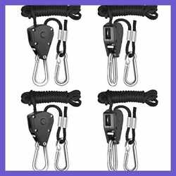 iPower 2-Pack 18 Inch 8-Feet Long Adjustable Heavy Duty Rope Clip Hanger Reinf