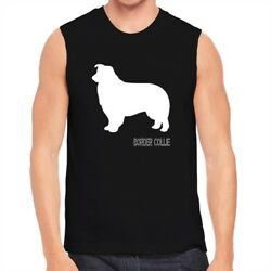 Border Collie Shape and Name Sleeveless T-Shirt