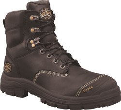 Oliver Men's Lace-up Zip Sided Safety Boots 150mm High Black-au 8, 8.5, 9 Or 9.5