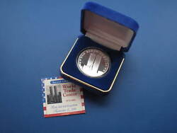 World Trade Center Land Of The Free 1 Troy Ounce Proof Silver Round