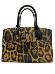 Louis Vuitton City Steamer PM  Hand Tote Bag Leopard Rare Design Used Ex++