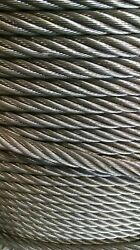 3/4 Bright Wire Rope Steel Cable Iwrc 6x26 750 Feet