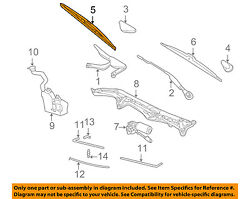 Genuine BMW OEM 02-08 7-Series Front Wiper Blade Set 61 61 0 442 837 NEW