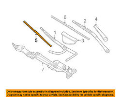 Genuine BMW OEM 04-10 5-Series Front Wiper Blade Set 61 61 0 431 438 NEW