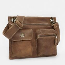 Roots Leather Crossbody Village Bag Tribe