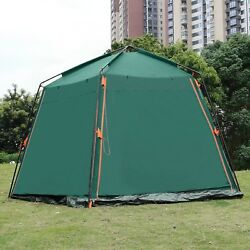 Portable Camping Tent w Carrying Bag Green Weather Proof Travel Hiking Beach