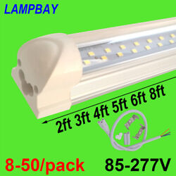 8-50/pack 2ft 3ft 4ft 5ft 6ft 8ft Double Row Lights T8 Led Tube Integrated Lamp
