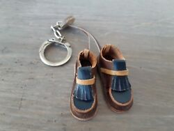 Mini Boots Leather Key Chain Shoes Idea Handcraft Keyring Fire Lighter vintage