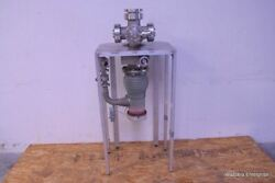 Varian Vacuum Diffusion Pump Wit Swing Gate 951-5226 Mdc Mirror And Nw40 H/o Valve