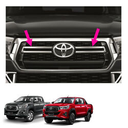 Fits Toyota Hilux Revo Rocco 4 Door 17 18 19 Front Grille Grill Garnish Chrome