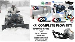 Kfi Polaris And03913-and03918 Ranger 900 Plow Complete Kit 72 Steel Straight Blade 4500