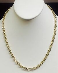 10k Solid Yellow Gold Handmade Rolo Link Men's Chain/necklace 20 36 Grm 6 Mm
