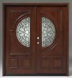 Limited Qty Sale Solid Wood Mahogany Front Unit Pre-hungandfinished Dmh7587-6gl22