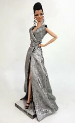 Eaki Platinum Silver Evening Dress Outfit Gown For Silkstone Fashion Royalty FR $19.99