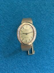 Just Reduced 18kt Yellow Gold Tissot Ladies Watch W/30 Diamonds + Certificate