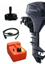 8hp Tohatsu Long Shaft Electric Start 4-stroke Outboard With Remotes And Cables