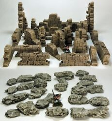 And039ruined Walls And Rock Packand039 - Pre Painted Terrain - Ghost Archipelago Suited