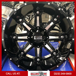 22x12 Offroad Twisted On 33/12.50r22 Black/milled Wheels With Off-road Tires