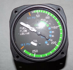 O/hand039ed United Instruments Fuel Flow Indicator P/n 6060-2104 With Yellow Tag
