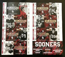 2018 Oklahoma Sooners Football Collectible Ticket Stub - Choose Any Home Game