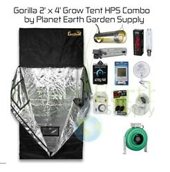 2' x 4' Gorilla Grow Tent Kit 400W HPS Combo Package #2 with FREE SHIPPING