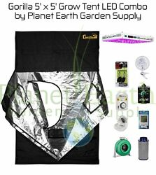 5' x 5' Gorilla Grow Tent Kit KIND LED XL1000 Package