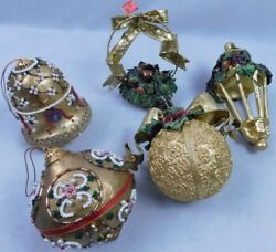 Vintage Lot Of 20 Glass And Other Christmas Treeteardrop And Bulbs Ornaments