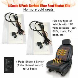 Universal Car Seat Heated Kit 5-Level Switch Seat Heater Kit for 2 seats 4 seats